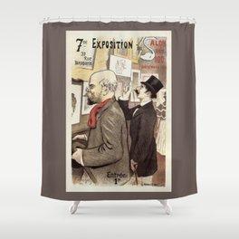 December 1894 7th Salon des 100 Art Expo Paris France Shower Curtain