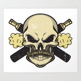 Cloud Chaser - Vaping Skull Art Print