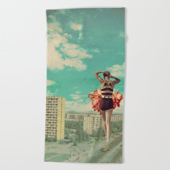 Coming Back Beach Towel