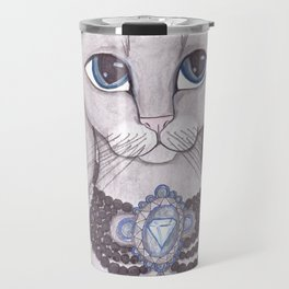 Diamond Kitty Cat art Travel Mug