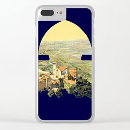 Vintage Litho Travel ad Assisi Italy Clear iPhone Case