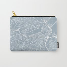 Boston Map, USA - Slate Carry-All Pouch