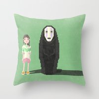 spirited away Throw Pillows featuring spirited away by pixel.pwn | AK