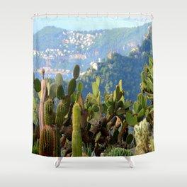 Forever Eze Village Garden Shower Curtain