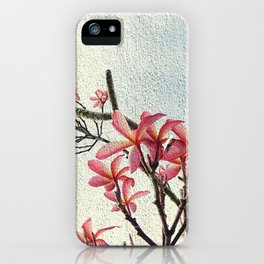 Pink Plumeria by Cynthia Flores iPhone Case