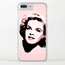 Judy Garland - Pop Art Clear iPhone Case