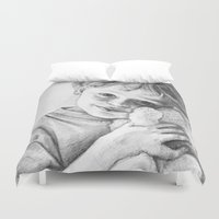 teddy bear Duvet Covers featuring Teddy Bear by VicFreyd