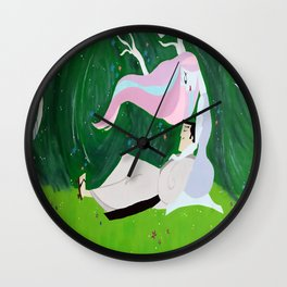 Samurai In Spring Wall Clock