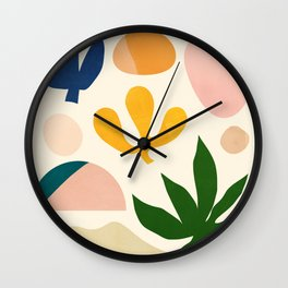 Abstraction_Floral_001 Wall Clock