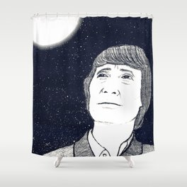Man and Moon Shower Curtain