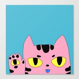 Alien Pocket Cat Pop Art - Maree's Mascot Canvas Print