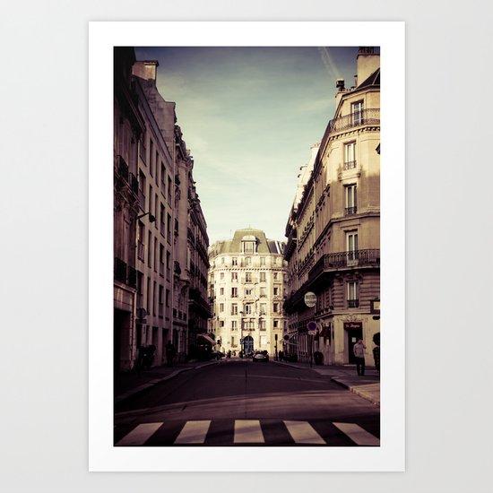Parisian Side Street Art Print