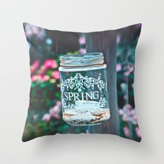 SPRING IN A JAR Throw Pillow