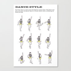 Dance Style: Pretty Wine Canvas Print