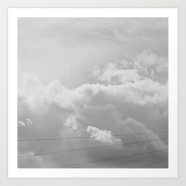 Heavenly in black and white Art Print
