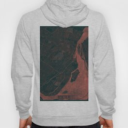 Montreal Map Red Hoody