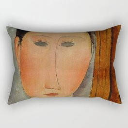 "Amedeo Modigliani ""Portrait de femme (Woman's portrait)"", 1918 Rectangular Pillow"