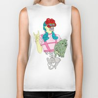 dorothy Biker Tanks featuring Dorothy Gale by DIVIDUS
