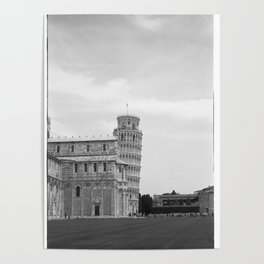 Scanned negative of the Leaning tower of Pisa Poster