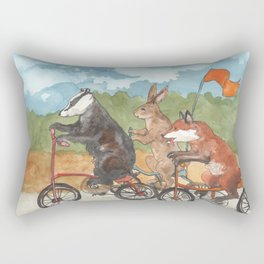 Bike Race Rectangular Pillow