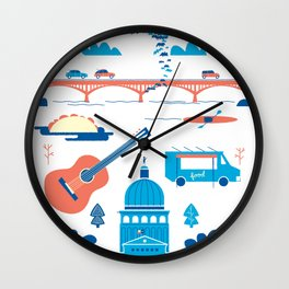 Love Letter to Austin, Texas Wall Clock