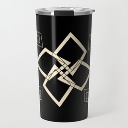 Black and White Tile Travel Mug