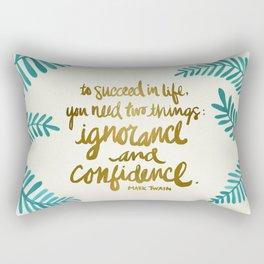 Ignorance & Confidence #1 Rectangular Pillow
