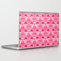 damask Laptop & iPad Skins featuring Flamingo Damask by Jacqueline Maldonado