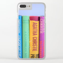 Row of Colorful Vintage Agatha's Clear iPhone Case