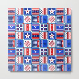 4th July Patchwork Metal Print