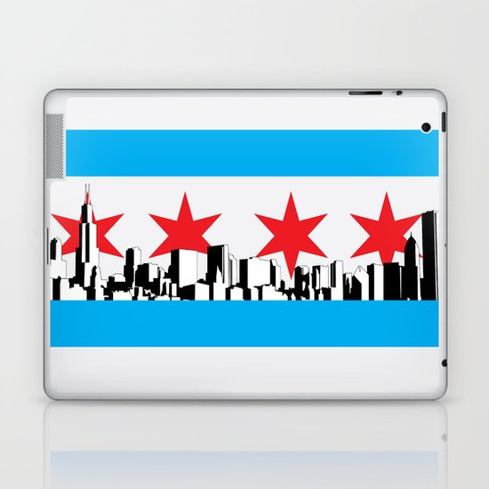 New Chicago Flag Laptop & iPad Skin