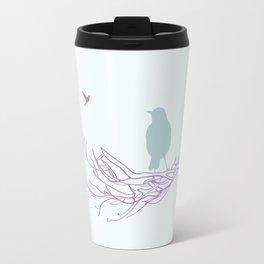 Nest with Bird Travel Mug