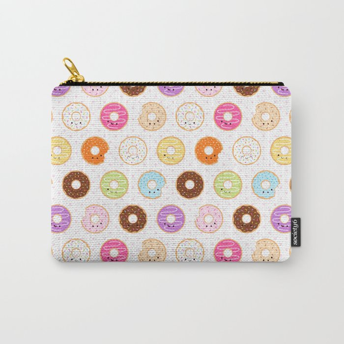 Happy Cute Donuts Pattern Carry-All Pouch