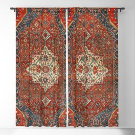 North-West Persia Bijar Old Century Authentic Colorful Royal Red Blue Green Vintage Patterns Blackout Curtain