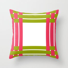 The intertwining pink and green ribbons Throw Pillow