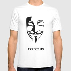 Expect us MEDIUM White Mens Fitted Tee