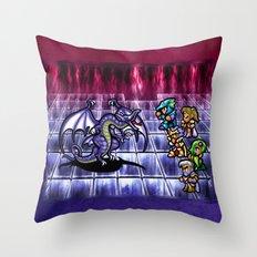 Final Fantasy Bahamut Battle Throw Pillow