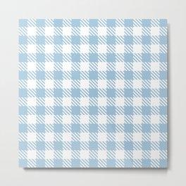 Plaid Pattern 512 Pale Blue Metal Print