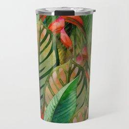 Painted Jungle Leaves 2 Travel Mug