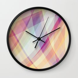 Pastel Madness Wall Clock