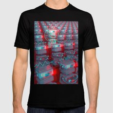 Robot Cinema Mens Fitted Tee X-LARGE Black
