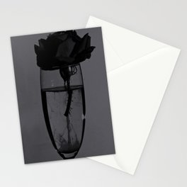 Liquid rose Stationery Cards