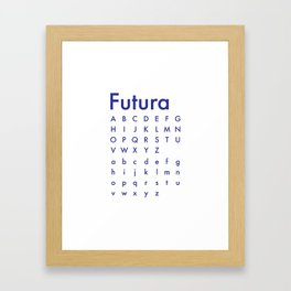 Fashionable Futura - Sleek Framed Art Print