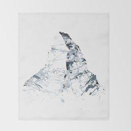 MATTERHORN MOUNTAINSPLASH grey Throw Blanket