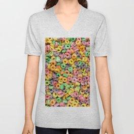 204 - Fruit loops and Marshmallows Unisex V-Neck