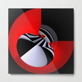 circular images on black -27- Metal Print