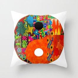 Spunky yin & yang Throw Pillow
