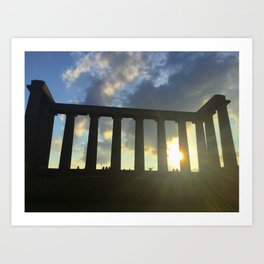 National Monument of Scotland Sunny Day Art Print