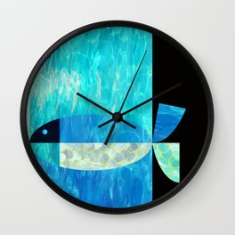 pool fish two step Wall Clock