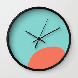 turquoise and orange Wall Clock